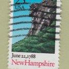 U.S. Bicentenary Stamp 25c New Hampshire Scott #2444 1988 Used