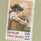 U.S. Bicentenary Stamp 22c New Jersey Scott #2338 1988 Used
