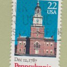 U.S. Bicentenary Stamp 22c Pennsylvania Scott #2337 1988 Used