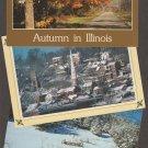 Illinois Color Postcards Lot of 3 Winter Scenic Autumn Galena