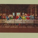 THE LAST SUPPER Post Card Forest Lawn Memorial Park Window Stained Glass