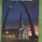 SAINT LOUIS Postcard Old Cathedral Gateway Arch Missouri