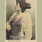 Miss Julia Neilson English Actress RPPC Postcard Antique Tinted