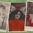 MISS GERTIE MILLAR POSTCARDS ANTIQUE ENGLISH EDWARDIAN ACTRESS SINGER