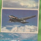 American Airlines Post Cards Advertising Airplanes Aviation