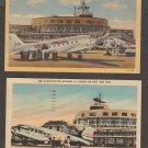 La Guardia Airport Post Cards Aviation Airplane New York