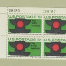 Stop Traffic Accidents Plate Block Scott No. 1272 Postage Stamps