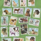 Miscellaneous Dog=Themed Stamps Collection Canine Worldwide