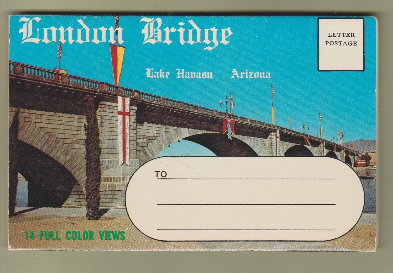 London Bridge Postcard Folder Pictorial Views Arizona Lake Havasu