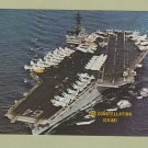 USS CONSTELLATION CV-64 Postcard Aircraft Carrier Warship U.S. Navy Military