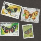 Butterflies / Moths Stamps Sharja, Namibia, Malagasy
