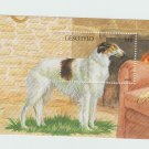 BORZOI Dog Souvenir Sheet Rusian Wolfhound Lesotho South Africa