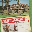 Two California Postcard Folders San Diego Zoo Winchester Mystery House