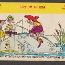 Comic Postcard Humor Funny  Fort Smith KOA Arkansas