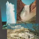 Postcards YELLOWSTONE NATIONAL PARK Geysers Waterfalls Rocky Mountains
