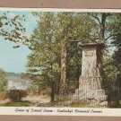 Daniel Boone Monument and Grave Postcard Frankfort, Kentucky