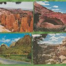 UTAH NATIONAL PARKS POSTCARDS BRYCE CANYON, ZION FULL-COLOR