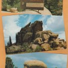 Rocks of Vedau Woo Vintage Postcards Wyoming Laramie Eheyenn