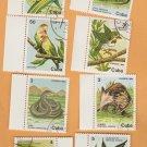 Wildlife Assortment Postage Stamps Birds Mammals Snake