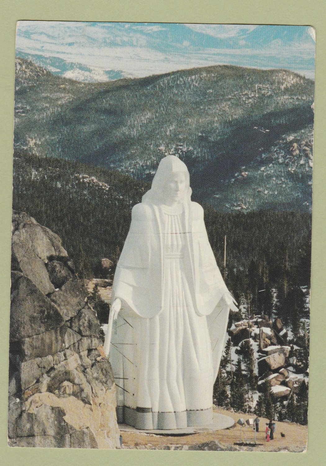 Our Lady of the Rockies Postcard Butte, Montana, Continental Divide