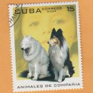 Companion Animals Caribbean Stamp Dogs Collie Samoyed Canine Art
