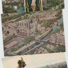 Lot of 3 PARIS Postcards Notre Dame Cathedral Aerial Views Chrome Scenic