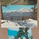 Pikes Peak Vtg Postcards Scenic Colorado Rocky Mountains Picturesque