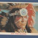 Native American Indian Attire Postcard Pow Wow Headdress Oklahoma