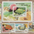 Republic of Zaire Tropical Fish Stamps MT Set and Souvenir Sheet