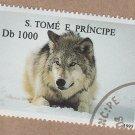 Wolf Postage Stamp Photo Art Wildlife S. Tome E. Principe