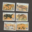 LAOS 1984 Set of 6 Stamps Australian Animals Wildlife