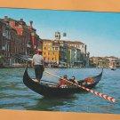 Gondola on the Great Canal Full Color Postcard Boa Venezia, Italy