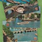 AMSTERDAM Holland Vtg Postcards Excursion Boats Bridges Anne Frank House Au