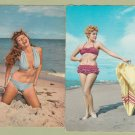 Pair of Beach Beauties BIKINI GIRLS LADIES WOMEN Postcards Blonde Redhead