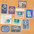 United Nations Unies Postage Stamps Lot of 10