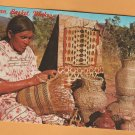 Indian Basket Maker Postcard Weaver Native American Apache Navajo
