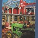 Antique John Deere Tractor Advertising Postcard Cousin's Restaurant and Salloon
