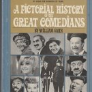 A Pictorial History of the Great Comedians HC Book DJ Red Skelton Goldie Hawn