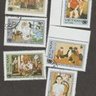 Viet Nam Used Postage Stamps National Paintings Miniature Art