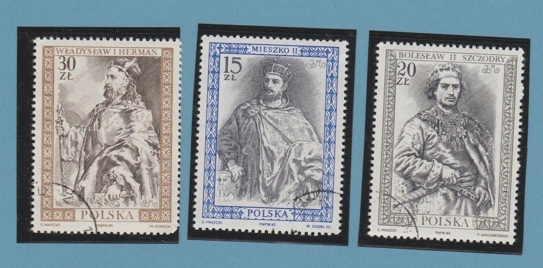 Two Polish Kings Postage Stamps Wladyslav 1 Duke of Poland