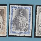 Two Polish Kings Postage Stamps Wladyslav 1 Duke of Poland