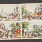 Paris Art Prints Souvenir Card Tour Eiffel, Notre-Dame, Legendre