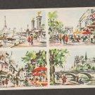 Paris Art Prints Souvenir Card Tour Eiffel, Notre-Dame, Legendre