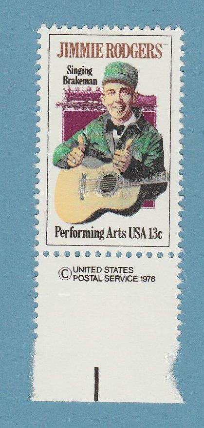 Jimmie Rodgers U.S. Postage Stamp 13c Performing Arts Series Scott No. 1755