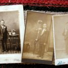 Lot of 3 Photo Antique Cabinet Cards Portraits of Young Men