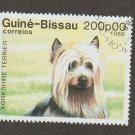 Yorkshire Terrier Postage Stamp Guine-Bissau Miniature Dog Art Head Study