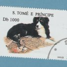 Border Collie Postage Stamp Sao Tome E. Principe Dog Art Miniature