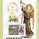 Grenada Souvenir Sheet Christmas 1977 Holiday Angel Stamp