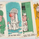 Elongated Postcards Vintage RARE Vintage Military Humor Comic