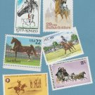 Lot of 6 Horses Postage Stamps Vtg Ireland, Romania, U.S. Seychelles, Maldives
